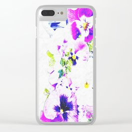 Paper Flowers Clear iPhone Case