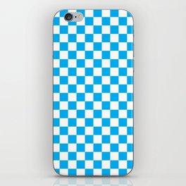 Blue Checkerboard Pattern iPhone Skin