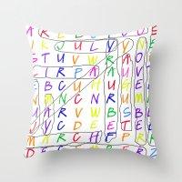 calendar 2015 Throw Pillows featuring Calendar Fun by Rissarae Designs