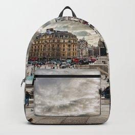 London Trafalgar Square art by @balazsromsics Backpack