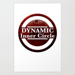 Dynamic Inner Circle white tees Art Print