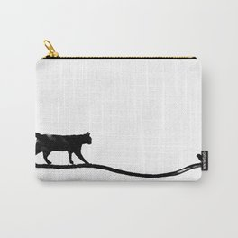 Cat with Bird Carry-All Pouch