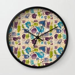 Critter pattern cool Wall Clock