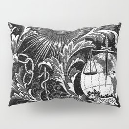 Black and White Woven IOOF Symbolism Tapestry Pillow Sham