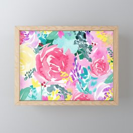 Bright Florals Framed Mini Art Print