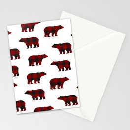 Lumberjack Bears Stationery Cards
