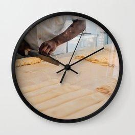 Italian Pasta Maker at Work Wall Clock