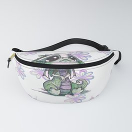 Baby Dragon with Flowers Fanny Pack