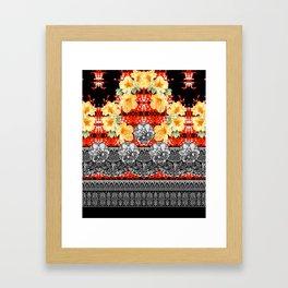 Gold Black Red White Framed Art Print