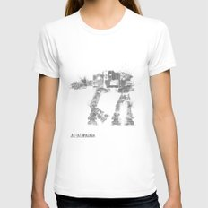Star Wars Vehicle AT-AT Walker White MEDIUM Womens Fitted Tee