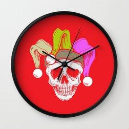 Mardi Grass Skull Carneval Shrove Tuesday Wall Clock