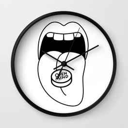open mind pill Wall Clock