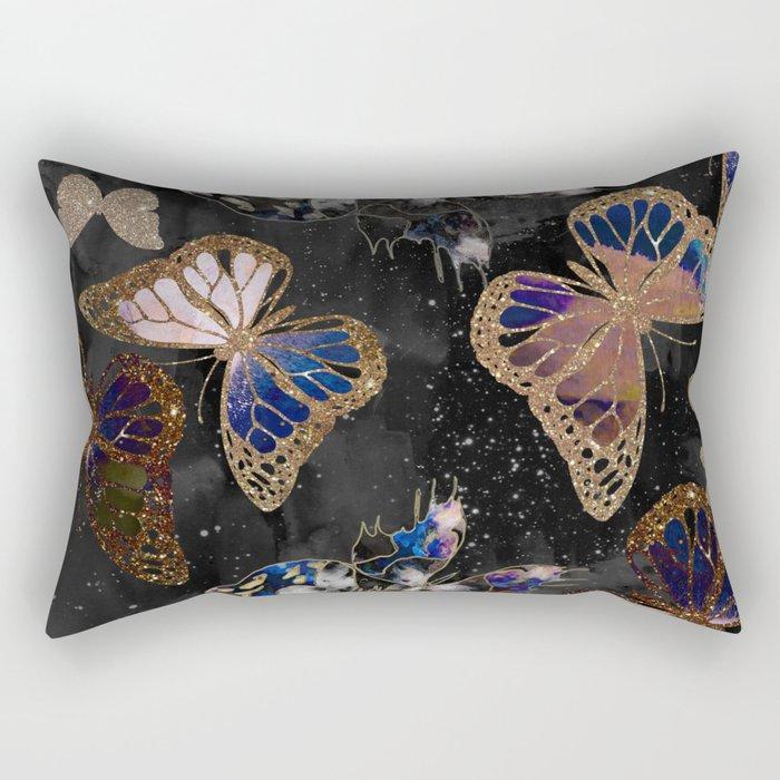 Cosmic Butterflies Rectangular Pillow