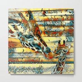 AnimalArt_Giraffe_20170901_by_JAMColorsSpecial Metal Print