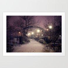 Winter Evenings Art Print