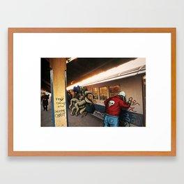 monster and rat metro Framed Art Print