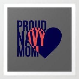 Proud Navy Mom Art Print