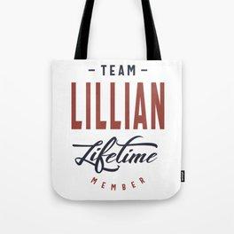 Team Lillian Lifetime Member Tote Bag