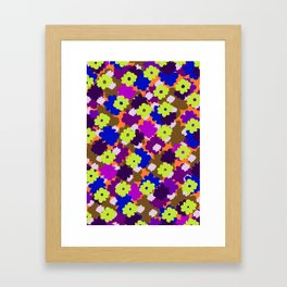 Fall Fun Flowers Framed Art Print