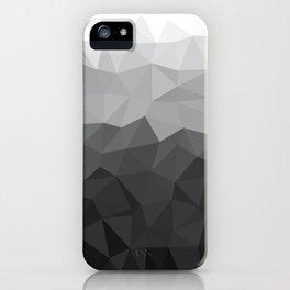 Low polygon monochromatic minimalism iPhone Case