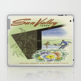 Vintage poster - Sun Valley, Idaho Laptop & iPad Skin