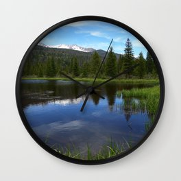 Peaceful Beaver Ponds View Wall Clock