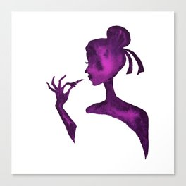 DIVA WITH Lipstick - PAINTED - Gorgeous VIOLET Canvas Print