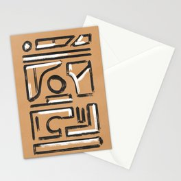 Black and white on Kraft paper earth texture Stationery Cards