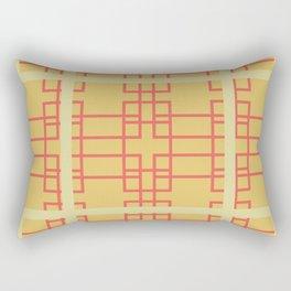 Midcentury Modern Geometric Art Yellow Rectangular Pillow