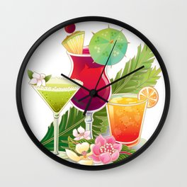 Tropical Drinks#2 Wall Clock
