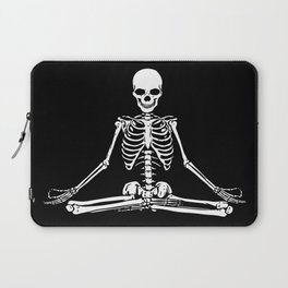 Meditation Skeleton Laptop Sleeve