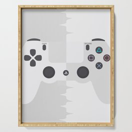 White Game console Serving Tray