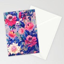 floral bleu Stationery Cards