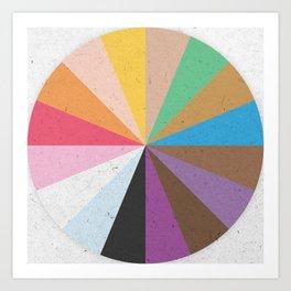 Rainbow Wheel of Inclusivity Art Print