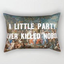 Red cup party Rectangular Pillow