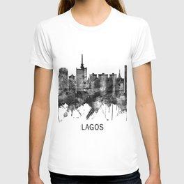 Lagos Nigeria Skyline BW T-shirt