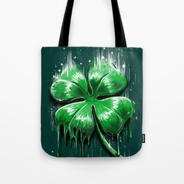 Four Leaf Clover Melting Luck Tote Bag