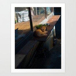 Naoshima Cat Art Print