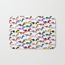Off to the Horse Races Jockey Silk Pattern Bath Mat