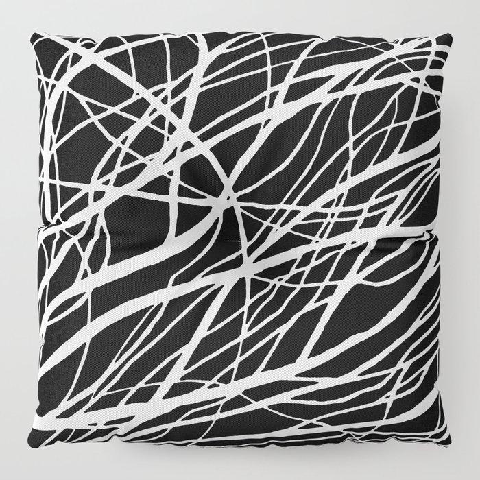 Tumble 2 Black Floor Pillow