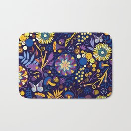 Ripe autumn – purple and yellow Bath Mat