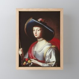 Gerard van Honthorst - Portrait of a Lady of the Court as a Shepherdess Framed Mini Art Print