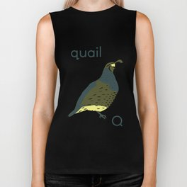 Q is for Quail Biker Tank