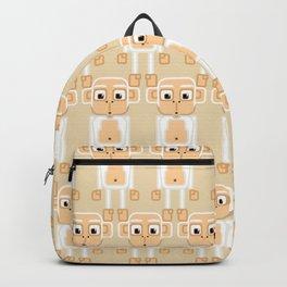 Super cute animals - Cheeky White Monkey Backpack
