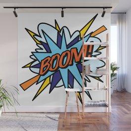 Comic Book Pop Art BOOM Wall Mural