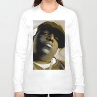 biggie smalls Long Sleeve T-shirts featuring The Notorious B.I.G (Biggie Smalls) by darylrbailey