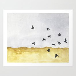 Autumn Crows Art Print