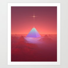 Blue Pyramid Art Print