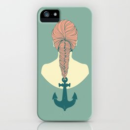 Fish and Anchor iPhone Case