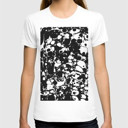 Black and white contrast ink spilled paint mess T-shirt